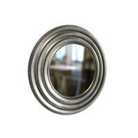 Round Mirror GALA 50cm Silver Paint Black Patina