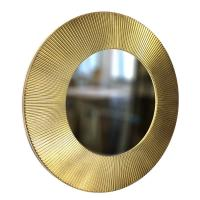 Round Mirror SUN 50cm Gold paint