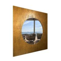 Square Mirror NELA CROCO 90X90cm Bronze paint with black patina
